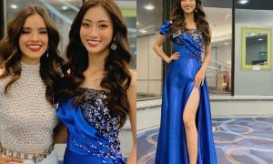 Lương Thùy Linh mặc váy xẻ cao quyến rũ, báo tin vui đầu tiên từ Miss World 2019