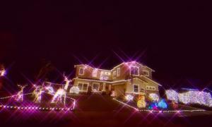 Cận cảnh biệt thự hoành tráng sang chảnh của Phạm Hương tại Mỹ mùa Noel